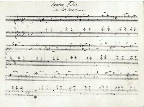 Autograph music manuscript by Tolstoy