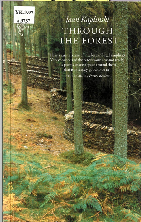 Cover of 'Through the Forest' with a photograph of a winding stone wall in a forest