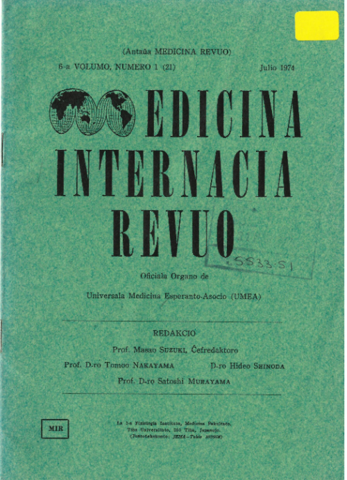 Cover of 'Cover of  Medicina Internacia Revuo'