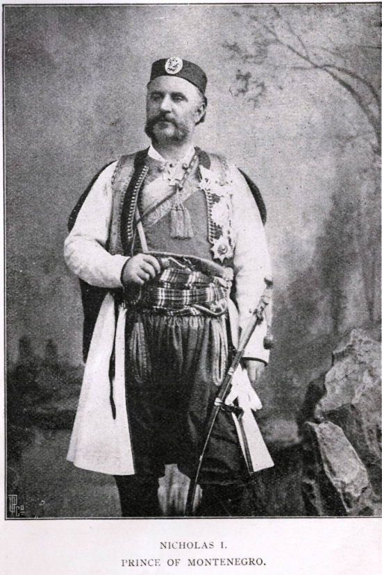 Photograph of  Prince Nicholas I of Montenegro in traditional dress