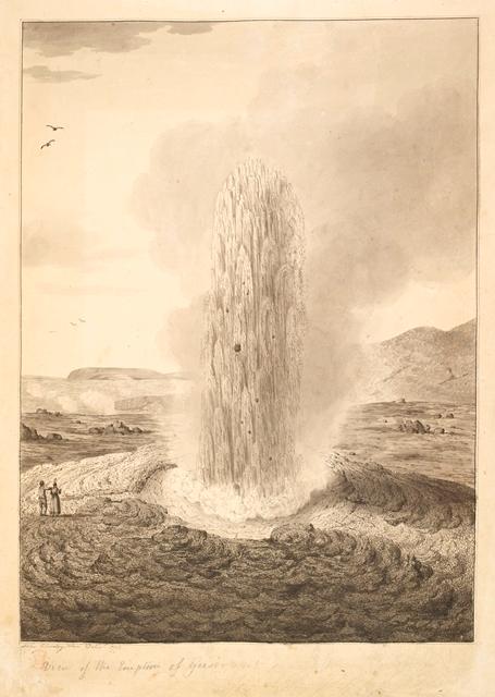 Clevely Geyser erupting