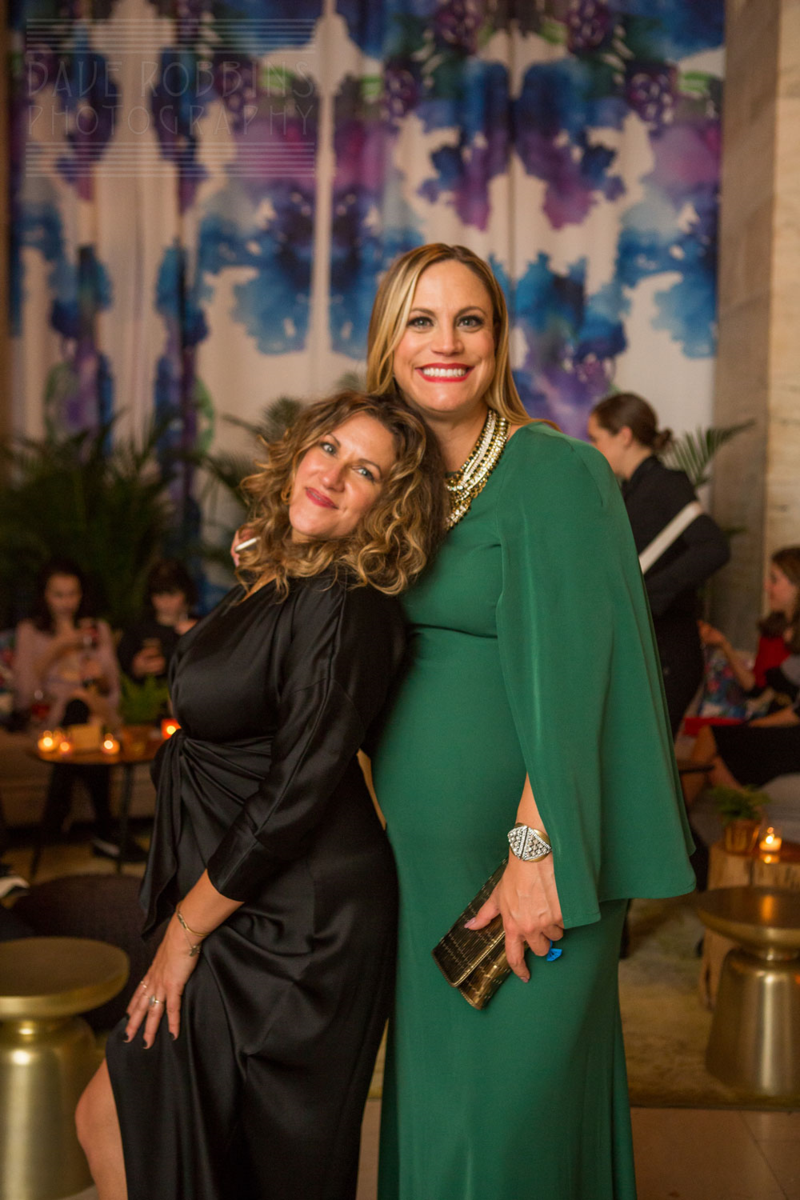 Ceci and Xochitl soak in the festivities at The Knot Gala