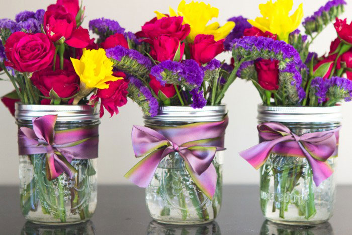 Mason Jar Bouquets