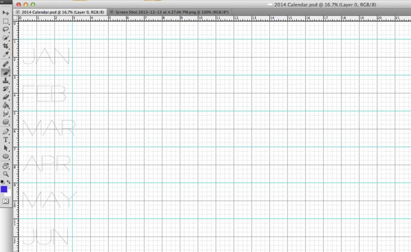 Adding months to 2014 calendar