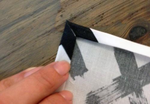 Mitered corner napkins