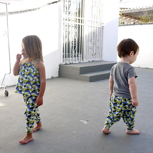 Geometric children's clothes