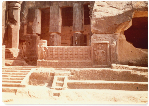 Kanheri archaelogical site, India, mid 1980s, British Library, Photo 1213(387)