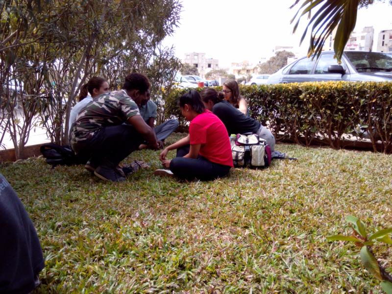 Cultural Learning & Language Practice with students of ISDD (Institut Supérieur des Droits de Dakar)