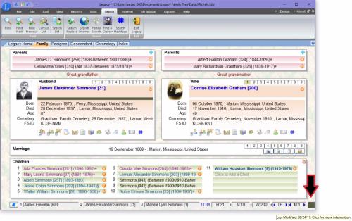 Modified dialog box