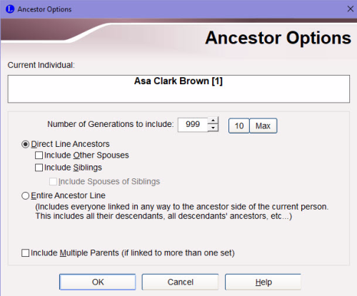 Ancestor Options