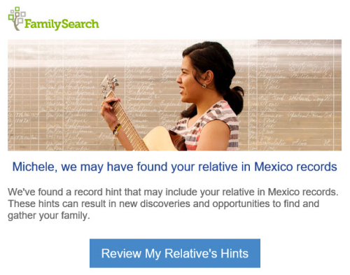 FamilySearch Hint
