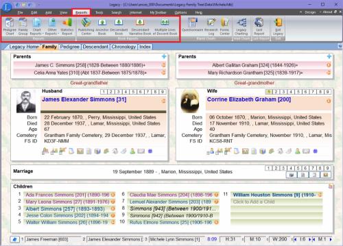 Reports Toolbar