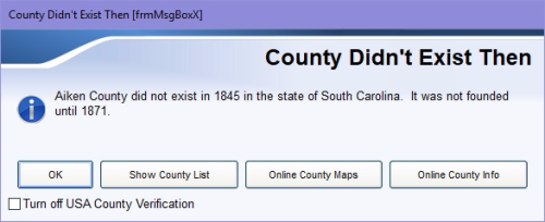 US County Verifier