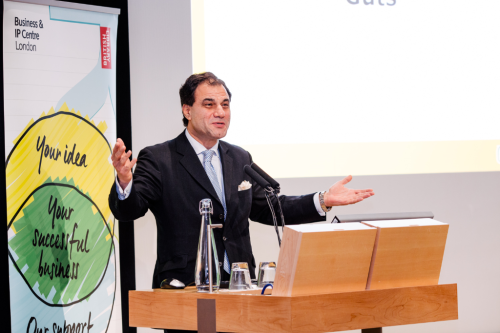 Image of Lord Bilimoria at a podium speaking