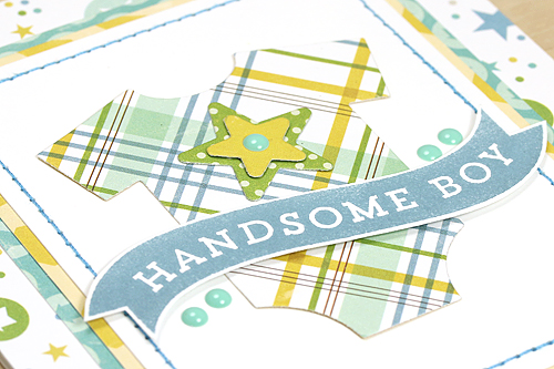 """Handsome Boy Card created with the """"Bundle of Joy, A New Addition: Boy"""" Collection by Courtney Kelley for #echoparkpaper"""