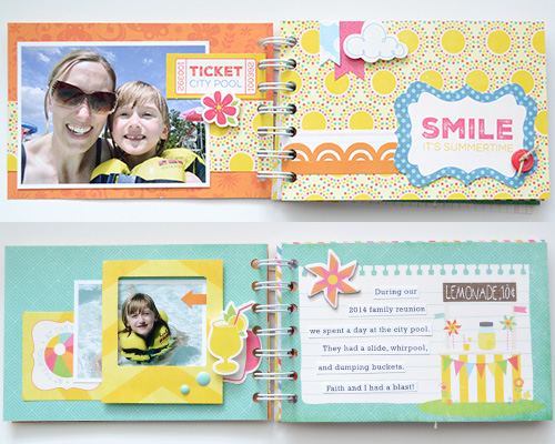 """At The Pool Mini Album by Aly Dosdall featuring the """"I Love Sunshine"""" Collection from #echoparkpaper"""