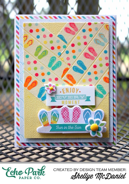 "Creative use of Decorative Tape by Shellye McDaniel using the ""I Love Summer"" collection by #echoparkpaper"