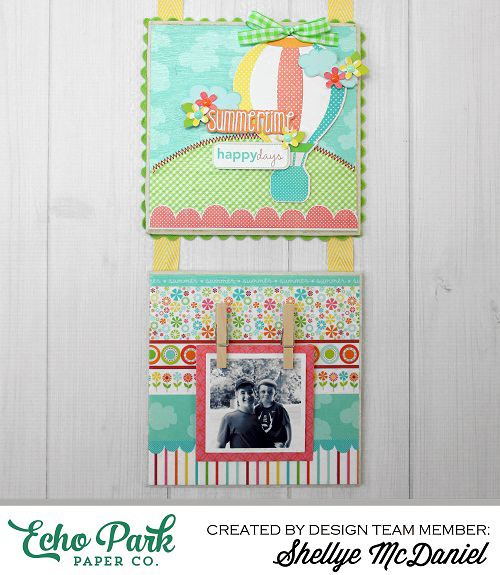 """Ceramic Tile Hanging by Shellye McDaniel with the """"Sweet Summertime"""" collection by #echoparkpaper"""
