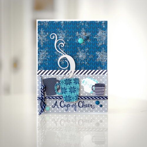"Download the FREE supply list and instructions for this ""Hello Winter"" Card by Courtney Lee for #EchoParkPaper"