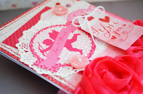 """Layered Valentine Card by @wendysuea with the """"Blowing Kisses"""" paper collection, stickers, and ephemera pack by #EchoParkPaper"""