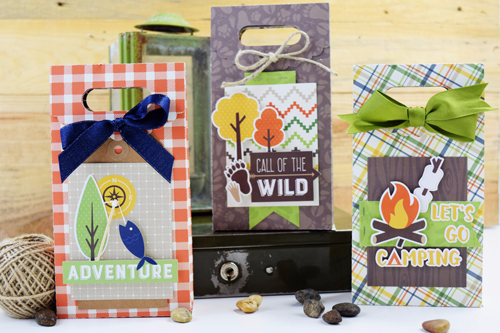 """Summer Camp"" Treat Bags by Becki Adams for #EchoParkPaper"