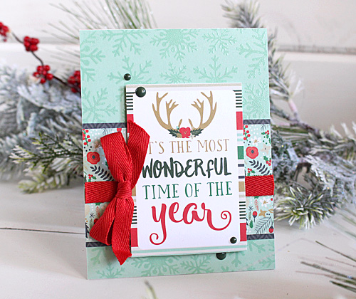 a week of christmas cards day 1 wonderful time of year card - What Day Of The Week Is Christmas On