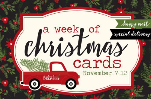 A Week of Christmas Cards - #EchoParkPaper #CartaBellaPaper