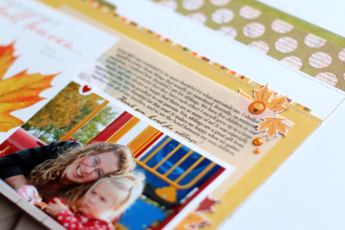 Autumn layout by Anya Lunchenko for #CartaBellaPaper