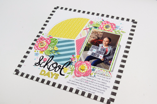 School Days Layout by Becki Adams for #EchoParkPaper and #CartaBellaPaper Back-To-School Week