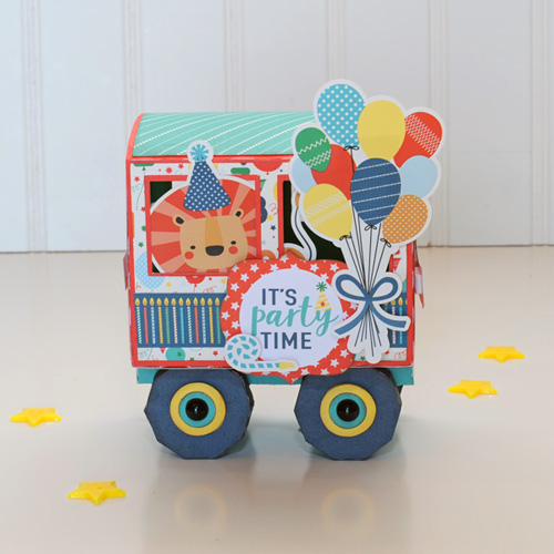 "Welcome aboard the Birthday Train!  Created by Jana Eubank with the ""Happy Birthday Boy"" collection by #EchoParkPaper"