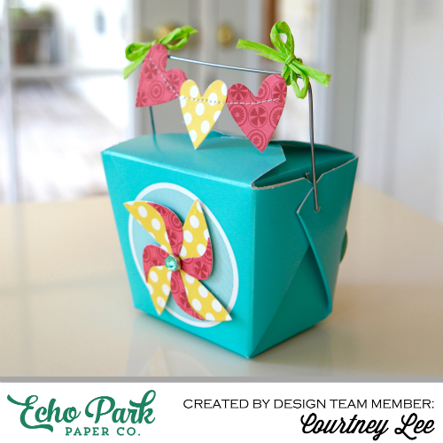 """Pinwheel Box by Courtney Lee with the """"Sweet Summertime"""" collection by #echoparkpaper"""