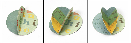 """3D Globe card by Courtney Kelley featuring the """"Teacher's Pet"""" collection and designer dies by #EchoParkPaper!"""