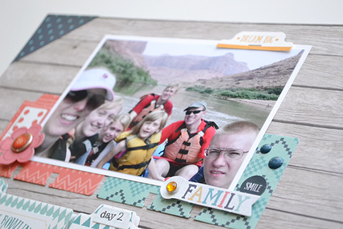 """Family layout by Aly Dosdall with the """"The Story of Our Family"""" collection and designer dies by #EchoParkPaper"""