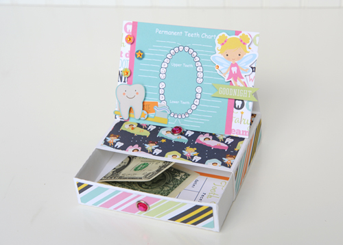 "Toothfairy Easel Box by Jana Eubank with the ""Toothfairy"" mini theme collection by #EchoParkPaper"