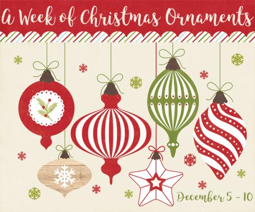 A Week of Christmas Ornaments #EchoParkPaper #CartaBellaPaper