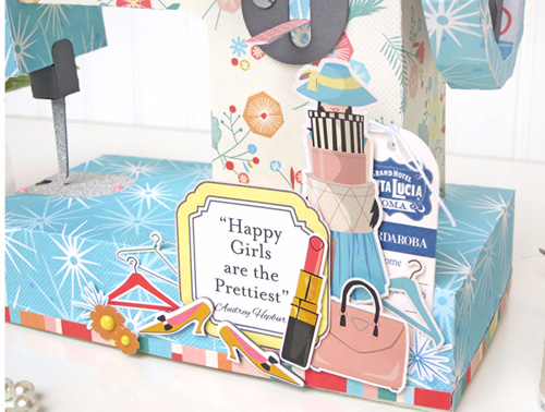 """Jana Eubank shows how to create this """"sew cute"""" gift box with our Metropolitan Girl collection! #CartaBellaPaper"""
