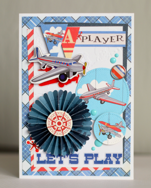 """""""Let's Play"""" card by Anya Lunchenko with the """"Toy Box"""" collection from #CartaBellaPaper"""