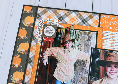 "Pumpkin Season layout by Jana Eubank for #CartaBellaPaper with the ""Hello Fall"" Collection"
