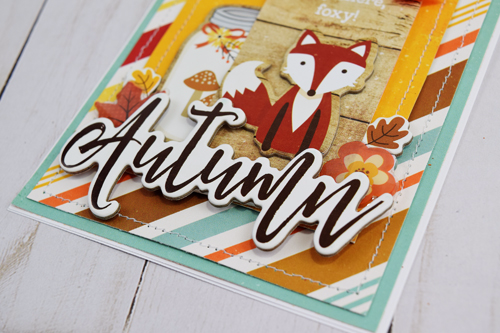 "Autumn Card by Becki Adams with the ""A Perfect Autumn"" collection by #EchoParkPaper"