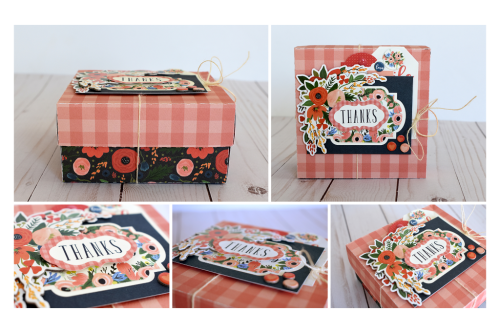 """Thanks"" Gift Box created by Wendy Sue Anderson with the ""Flora No. 2"" collection by #CartaBellaPaper"