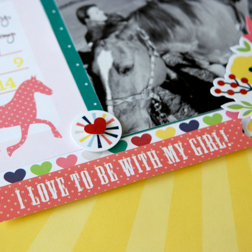 "Clip Clop layout by Courtney Lee with the ""My Little Girl"" Collection by #EchoParkPaper"