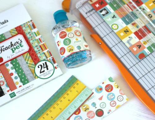"""Cute Hand Sanitizer Gift for Teachers by Holly Gagnon featuring the """"Teacher's Pet"""" collection by #EchoParkPaper"""