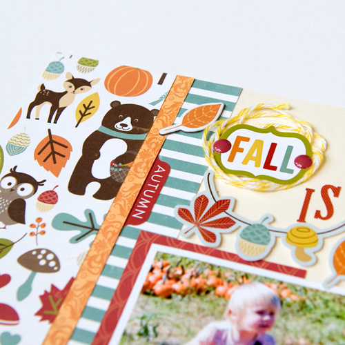 """""""Fall is in the Air"""" layout by Tegan Skwiat for #EchoParkPaper"""