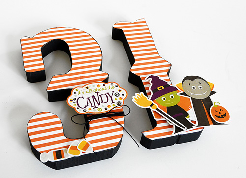 """Quick and easy Halloween decor by @wendysue with the """"Halloween"""" collection by #EchoParkPaper"""