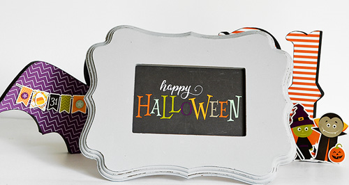 "Quick and easy Halloween decor by @wendysue with the ""Halloween"" collection by #EchoParkPaper"