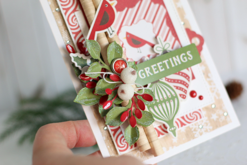 "Create this beautiful Christmas card by Anya Lunchenko with the ""I Love Christmas"" collection by #EchoParkPaper"