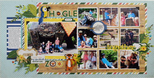 Use Jungle Safari To Create This Two Page Zoo Layout Echo Park