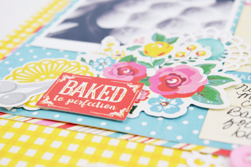 """Scrapbook a favorite recipe like Becki Adams did with her Rosemary Rolls recipe and the """"Happiness is Homemade"""" collection by #EchoParkPaper"""