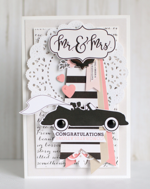 """Wedding Bliss"" collection card by Anya Lunchenko for #EchoParkPaper"