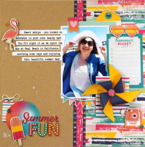 "Summer Fun layout created by Tya Smith with the ""Summer Dreams"" collection by #EchoParkPaper"